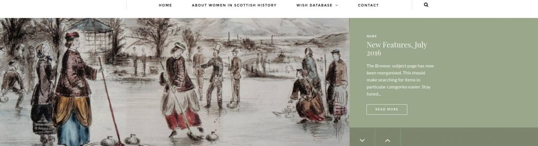 Redesign of Women in Scottish History (WISH) website