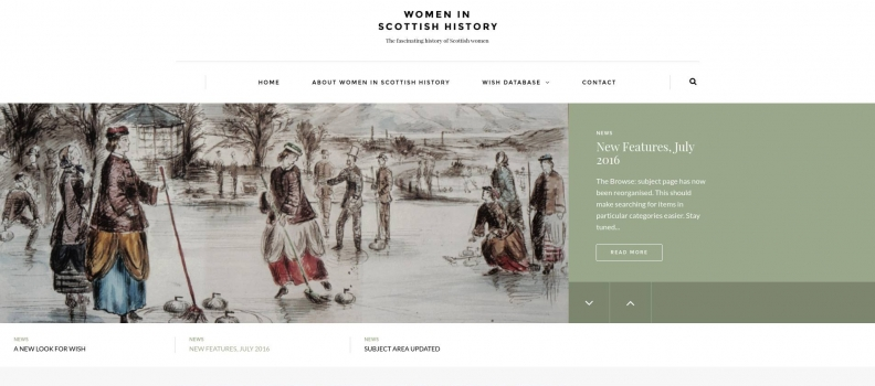 Women in Scottish History (WISH) site